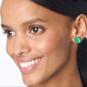 Kate Spade Beryl Green Square Stud Earrings